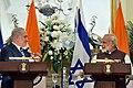The Prime Minister, Shri Narendra Modi and the Prime Minister of Israel, Mr. Benjamin Netanyahu during Press Statement, at Hyderabad House, in New Delhi on January 15, 2018 (2).jpg