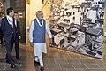 The Prime Minister, Shri Narendra Modi and the Prime Minister of Japan, Mr. Shinzo Abe visit Dandi Kutir, in Gandhinagar, Gujarat on September 14, 2017 (1).jpg