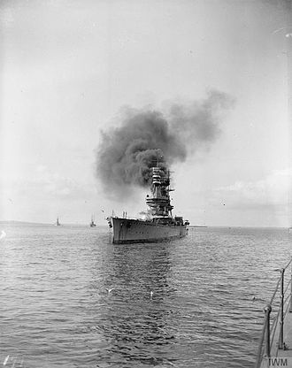 HMS Glorious - Glorious at anchor during the First World War