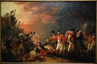 The Sortie Made by the Garrison of Gibraltar - In the 1788 version at the Cincinnati Art Museum, Don Jose de Barboza is in a slightly different pose, looking to the left, instead of down.