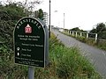 The Tarka Trail, Coast Path and National Cycle Network approaching the footbridge over the river Yeo - geograph.org.uk - 1495730.jpg