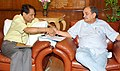 The Union Minister for Rural Development, Panchayati Raj, Drinking Water and Sanitation, Shri Chaudhary Birender Singh meeting the Union Minister for Railways, Shri Suresh Prabhakar Prabhu, in New Delhi on June 30, 2016.jpg
