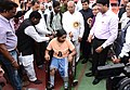 The Union Minister for Social Justice and Empowerment, Shri Thaawar Chand Gehlot distributing the aids and assistive devices to the persons with disabilities, in Amaravati, Maharashtra on February 14, 2016 (1).jpg
