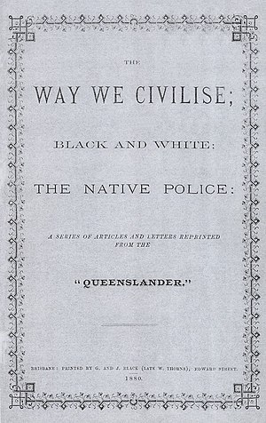 Carl Feilberg -  The original front page of Carl Feilberg's pamphlet The Way We Civilise from 1880