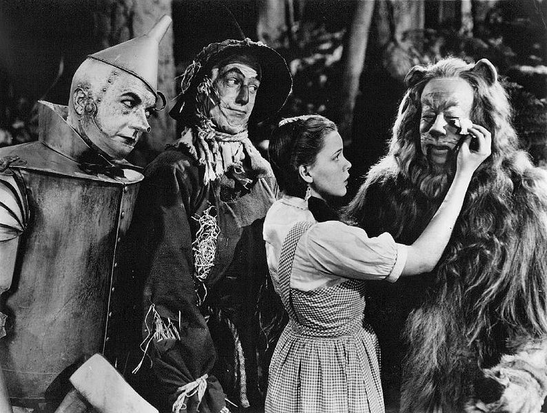 File:The Wizard of Oz Haley Bolger Garland Lahr 1939.jpg