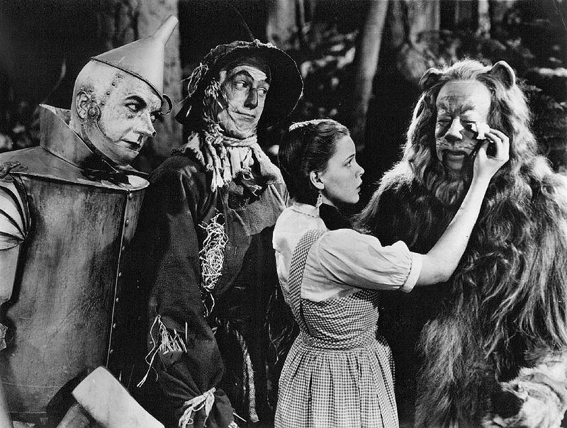 The Wizard of Oz Haley Bolger Garland Lahr 1939.jpg