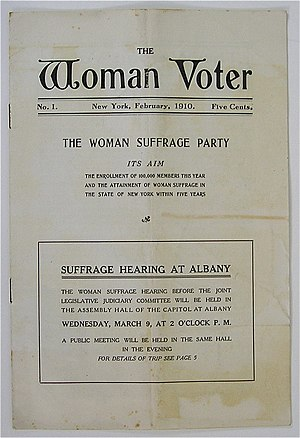 The Woman Voter - Publication of The Woman Voter, journal of the New York Woman Suffrage Party. February 1910