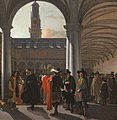 The courtyard of the Beurs in Amsterdam, by Emanuel de Witte.jpg