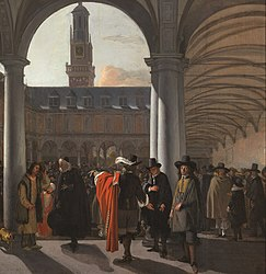 Emanuel de Witte: Courtyard of the Exchange in Amsterdam