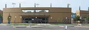 Texas–Arlington Mavericks - Image: The exterior of Clay Gould Ballpark