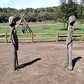 The park's wooden statues of Gara and Jonay. La Gomera, Canary Islands, Spain - panoramio.jpg