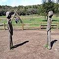 The park's wooden statues of Gara and Jonay. La Gomera, Canary Islands, Spain - panoramio.jpg