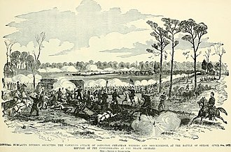 Battle of Shiloh - Hurlbut's Division defending the peach orchard