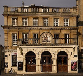 Theatre Royal, Bath - The entrance from Sawclose which was added in 1863