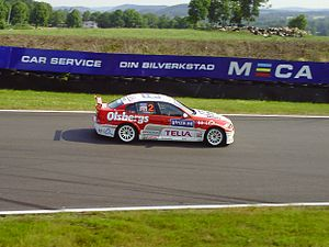 Thed Björk - Björk competing in the 2010 Swedish Touring Car Championship.