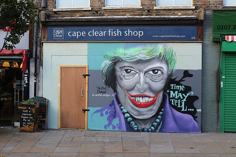 File:Theresa May graffiti art, Herne Hill.jpg