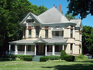 Thomas Oliver House Lockport, NY, listed on the NRHP in Niagara County, New York