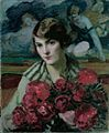 Thorma Female Portrait with Peonies 1928.jpg