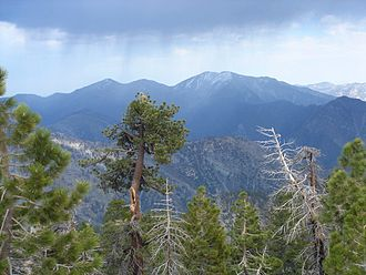 San Gabriel Mountains National Monument - Image: Throop Peak Mount Hawkins 033
