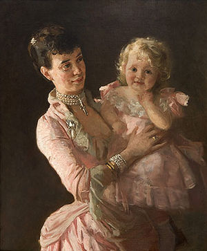 Princess Thyra of Denmark - The Duchess of Cumberland with her daughter, Princess Olga.