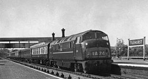 British Rail Class 43 (Warship Class) - D861 'Vigilant' at Tilehurst in 1962