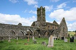 La ruinoj de Timoleague Abbey
