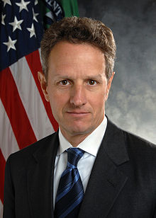 Portrait officiel de Timothy Geithner, en 2009.