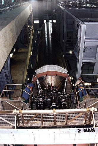 LR-87 - Titan IVB first stage showing the LR87 engine