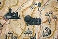 Tito chini, padiglione delle feste di castrocaro, atrio circolare, mappe della romagna e della sua riviera 02 dovadola e predappio.JPG