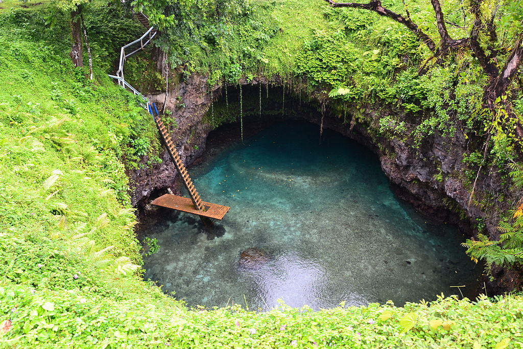 To Sua Trench in Samoa- surreal places to visit