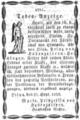 Todesanzeige Fuerstbischof von Ermland Prinz von Hohenzollern-Hechingen.PNG