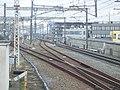 Tokaido Shinkansen scissors crossing in Mishima 02.jpg