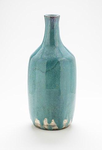 Agano ware - Image: Tokkuri LACMA M.2007.224.4