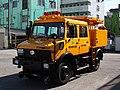 Tokyo Trams inspection vehicle - Mercedes-Benz UNIMOG ZWEIWEG.jpg