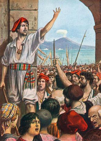 Masaniello - Tommaso Aniello, known as Masaniello, was the leading spirit of revolt in Naples, 1647.