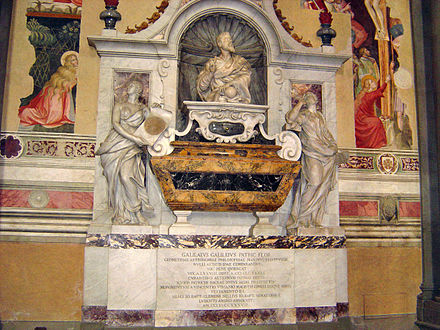 Tomb of Galileo, Santa Croce, Florence Tomb of Galileo Galilei.JPG