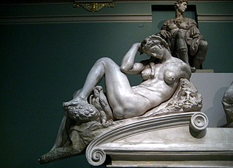Night (Michelangelo) - Copy of the statue in the Pushkin Museum in Moscow