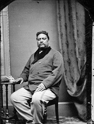 Henare Tomoana - Portrait of Tomoana by Samuel Carnell, 1873.