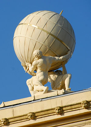 Radcliffe Observatory - Statue of Atlas on top of the observatory