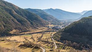 Torla-Ordesa - View of the valley where Torla-Ordesa is located.