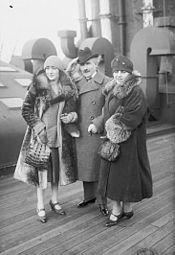 Arturo Toscanini feleségévelés lányukkal