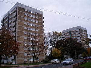 Heartsease Estate, Norwich - Tower blocks on the estate