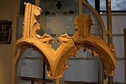 Window tracery from Merton Priory, on display in the Museum of London.