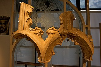 Merton Priory - Window tracery from the Priory, on display in the Museum of London.