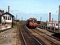Train enter Balbriggan station (geograph 2437859).jpg
