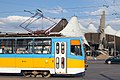 Tram in Sofia in front of Central Railway Station 2012 PD 007.jpg