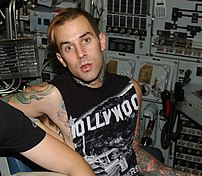 Travis Barker aboard the nuclear-powered attac...