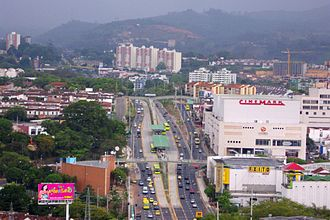 Bucaramanga - Trunk Highway Metrolínea in Bucaramanga - Floridablanca and Canaveral station.