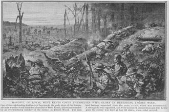 Battle of Delville Wood - Image: Trones Wood Battle July 1916
