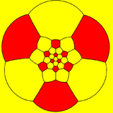 Truncated icosahedron stereographic projection hexagon.png